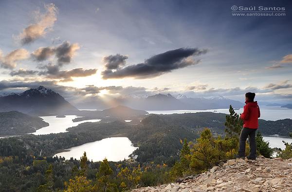 Panoramica desde el Cerro Campanario, Parque Nacional Nahue Huapi, Rio Negro, Region de Los Lagos. Patagonia Argentina.