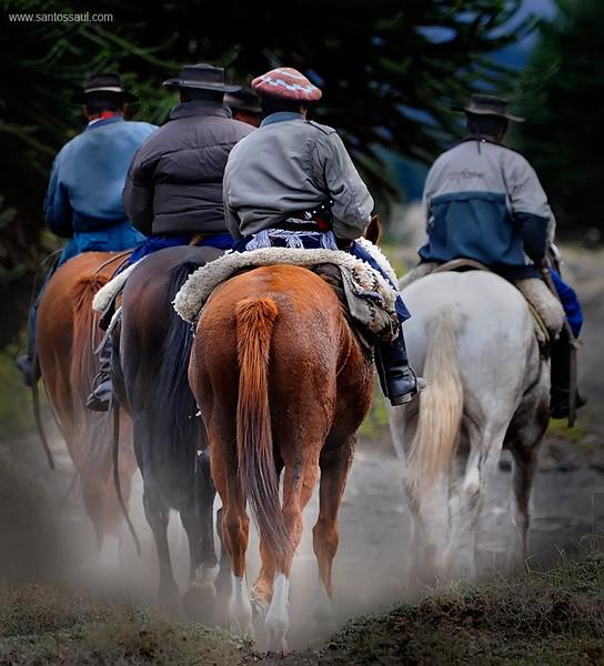 Gauchos,Region de Los Lagos. Patagonia Argentina