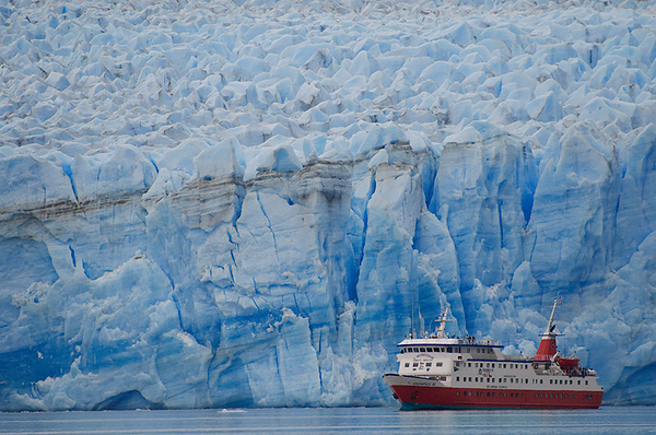 Glaciar Pio XI, Skorpios III, Patagonia Chilena