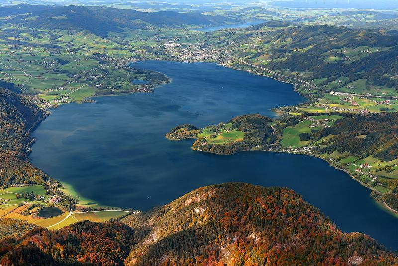Wolfgang y el lago Wolfgang. Austria