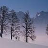 Alrededores de Salzburgo en invierno. Austria