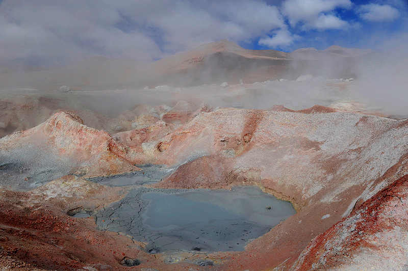 Geyser Sol de Mañana, Reserva Natural Eduardo Avaroa, Bolivia