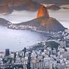 Panoramica desde el Cristo Corcovado, Rio de Janeiro. Brasil