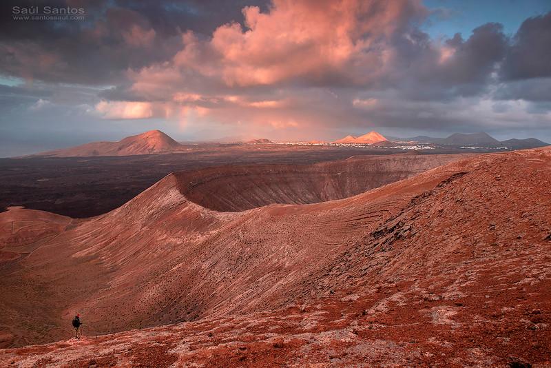 Caldera Blanca, Timanfaya, Lanzarote, Islas Canarias