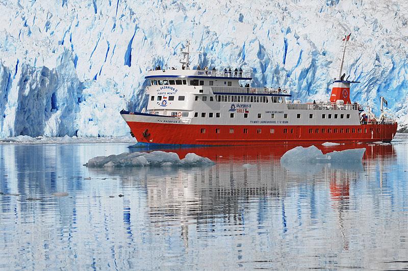 Glaciar, Laguna San Rafael, Fiordos Chilenos, Viaje Skorpios II, Ruta Chonos,  Patagonia Chilena
