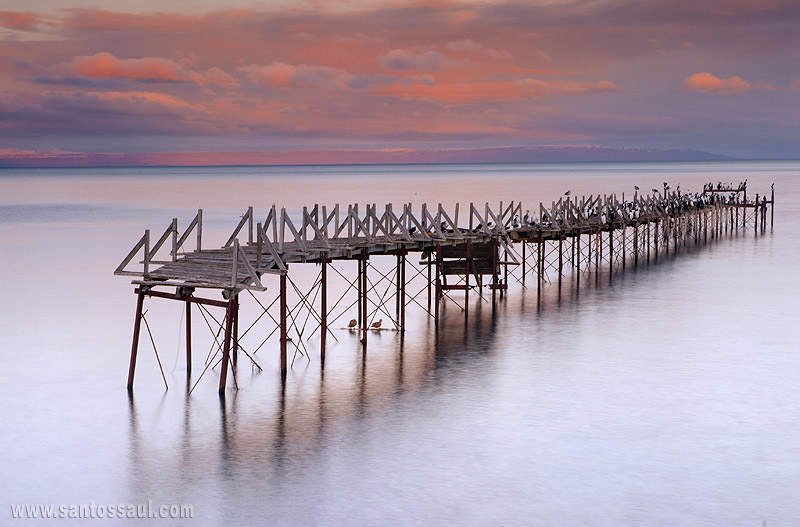 Atardecer en Extrecho de Magallanes, Punta Arenas, Chile