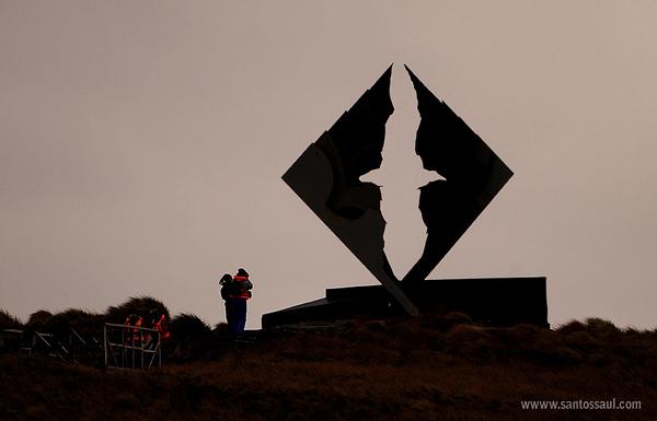 Cabo de Hornos, Monumento Albatros, Tierra del Fuego, Patagonia Chilena.