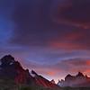 Amanecer en el Lago Peohe, Parque Nacional Torres del Paine, Patagonia Chilena.