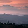 Volcanes de Purace, desde el Valle del Cauca, Colombia