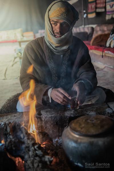 Nativo Beduino, desierto de Wadi Ram, Jordan.