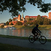 Wawel Royal Castle from the Rive Wizla Vistula, Krakow, Poland