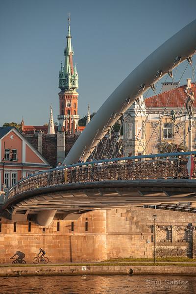 Father Bernatek´s Bridge, St. Joseph´s Church,  Krakow, Poland.