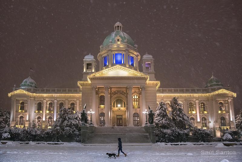 Ayuntamiento de Belgrado, Serbia.