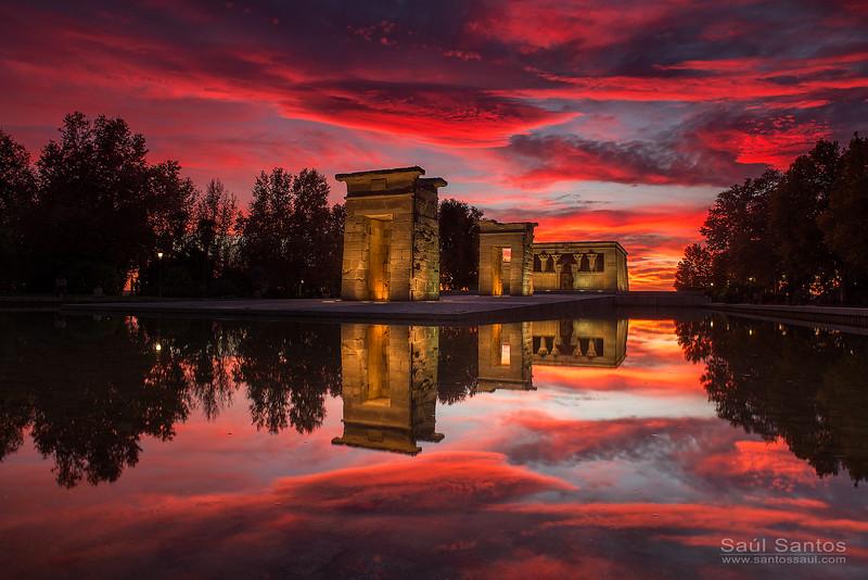 Atardecer en el Templo de Debod. Madrid