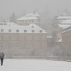 Nevando en el  El escorial. Madrid