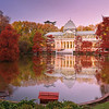 Palacio de Cristal en otoño, Parque del Retiro. Madrid