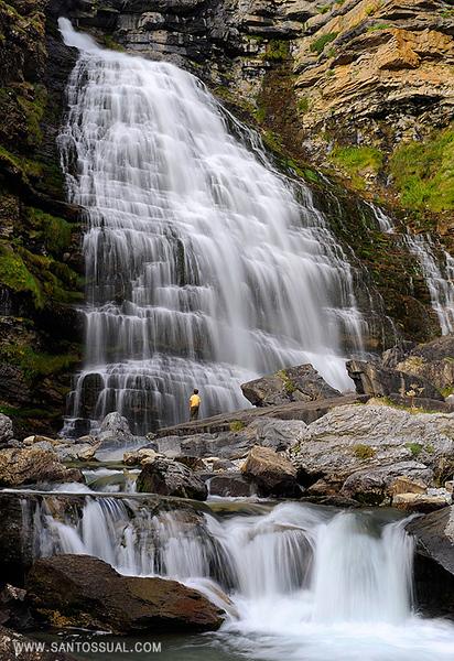 Pirineos, Parque Nacional de Ordesa, Cascada Cola de Caballo.
