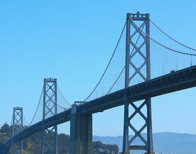 West span of the San Francisco-Oakland Bay Bridge  サンフランシスコ・オークランド・ベイブリッジの西景観