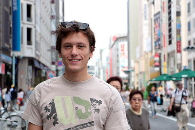 "Thibault is a student from Paris. I asked him: ""What's most important to you?"" ""Love""  ティボーは、パリ出身の学生。彼に尋ねてみた。 「ティボーにとって何が一番大事?」 「愛」"