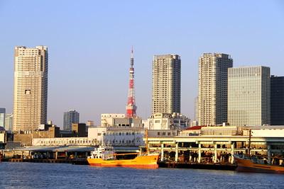 Tsukiji Market & Tokyo Tower  築地市場と東京タワー