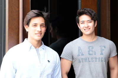 Models at the Abercrombie & Fitch store in Ginza.  アバクロンビー&フィッチ銀座店のストア・モデル 。