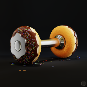 3D Donut Dumbbell