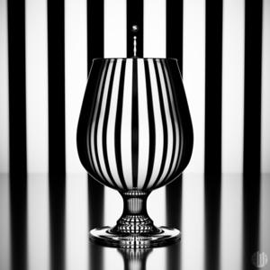 3D Zebra Refraction Glass
