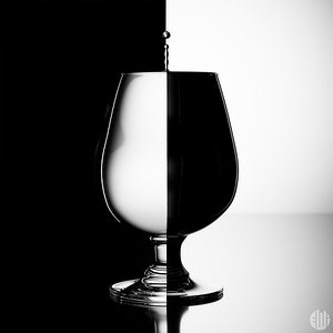 3D BW Refraction Glass