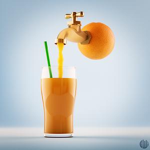 3D Orange Juice