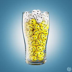 3D Happy Smiley Beer