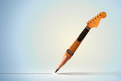 Pencil Guitar