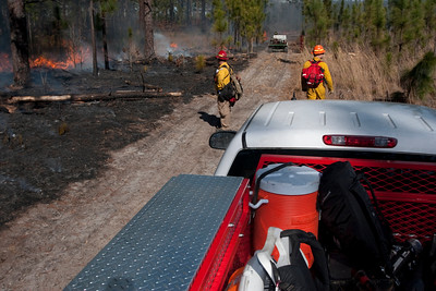 Prescribed fire personnel and equipment.