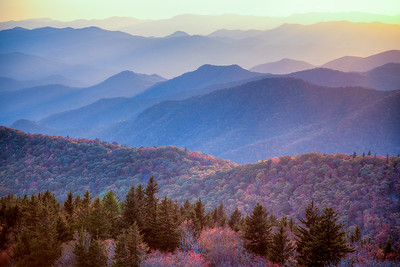 Fall color NC mountains