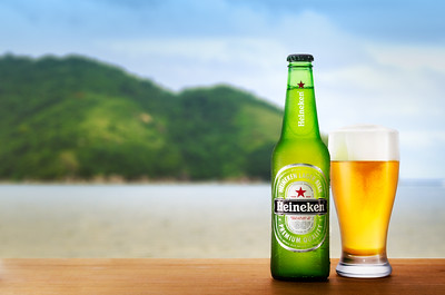 Heineken on a beach