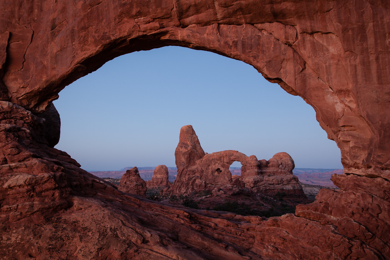 Turret Arch through the North Window.