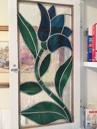 Stained Glass Cabinet Door - Made by Deedee Niederhouse-Mandrell