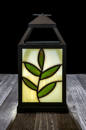 Stained Glass Lantern - Made by Deedee Niederhouse-Mandrell