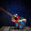 Stained Glass Guitar Lamp - Made by Deedee Niederhouse-Mandrell