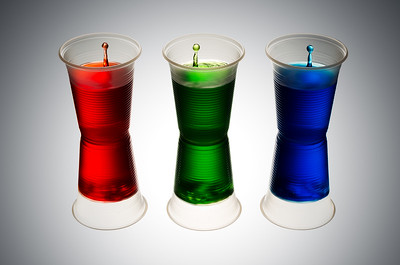 RGB Plastic Cups Splash