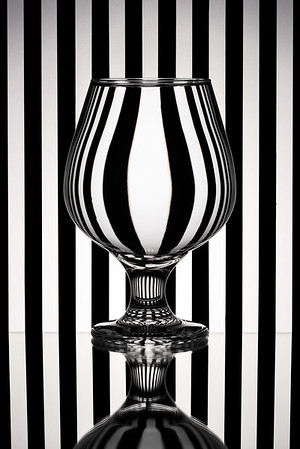 Zebra Refraction Glass