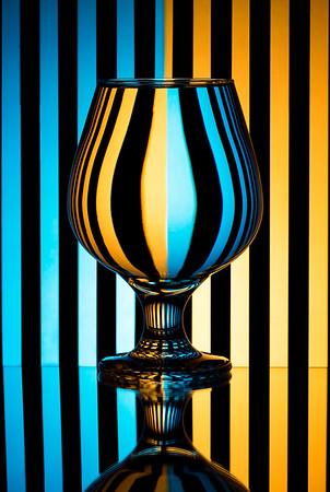 Zebra Complementary Refraction Glass
