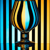 Zebra Complementary Refraction Glass