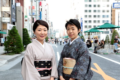 Classic Japanese ladies in Ginza!