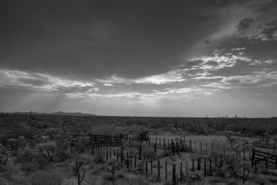 Corral in the desert Arizona