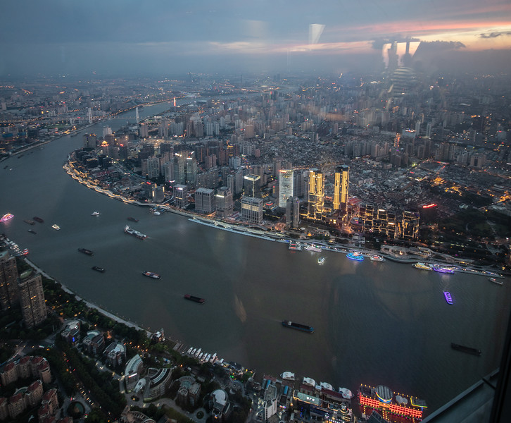Evening Views from the Shanghai Tower