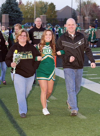 2014 Zeeland West vs Holland Christian Parents Night & Sideline Cheer