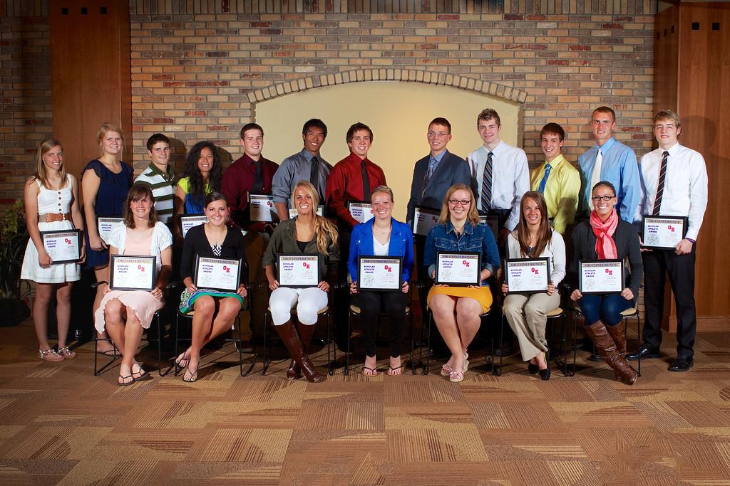 Zeeland West OK Conference 2013 Scholar Athlete Award Winners