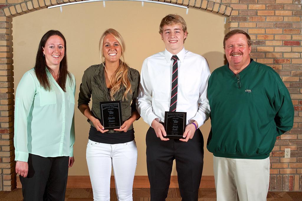 2013 Zeeland West Detroit Free Press Scholar-Athlete Award Winners.