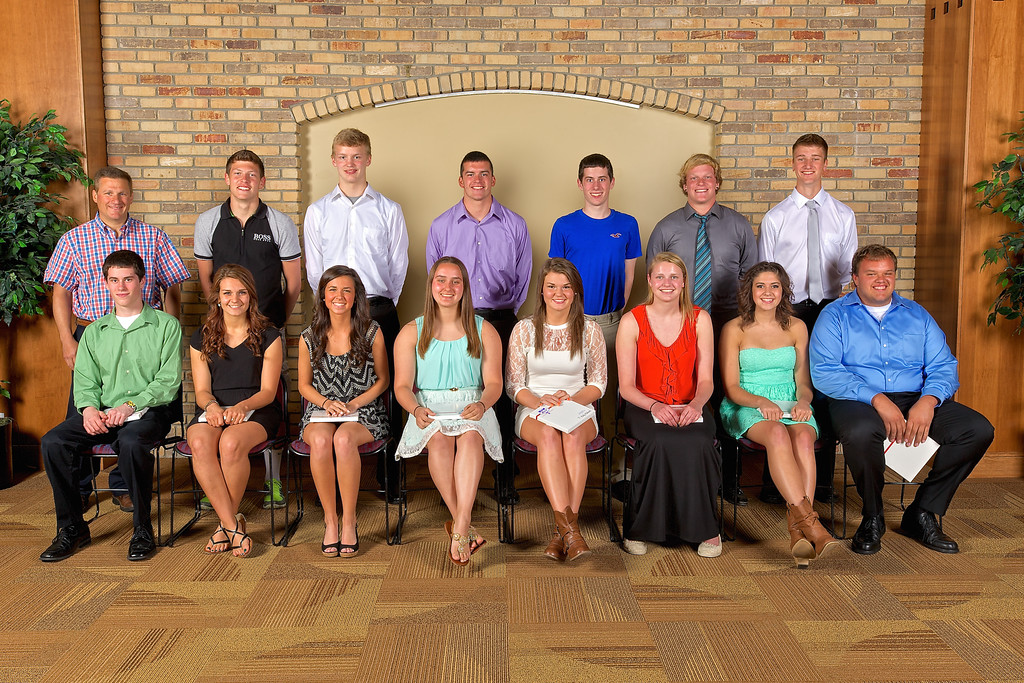 Zeeland West 2014 Booster Club Senior Athletic Award Winners