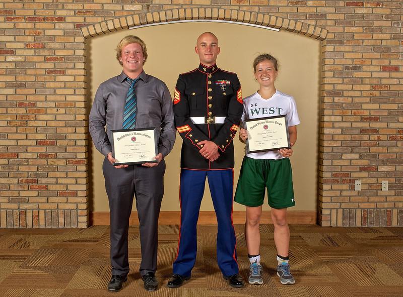 2014 Zeeland West U.S. Marine Corps Distinguished Athlete Award Winners